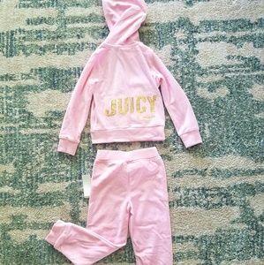 NWT Pink Juicy Couture Hoodie/Pant Set